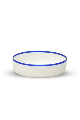 Salad Bowl with Blue Rim