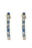 Ping Pong Drop Earrings with 10 Blue Sapphires thumbnail