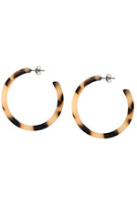 Tortoise Shell Hoop Earrings thumbnail