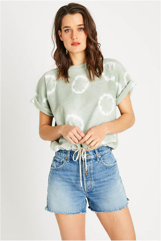 Lindsay Muscle Tee in Superbloom Agave
