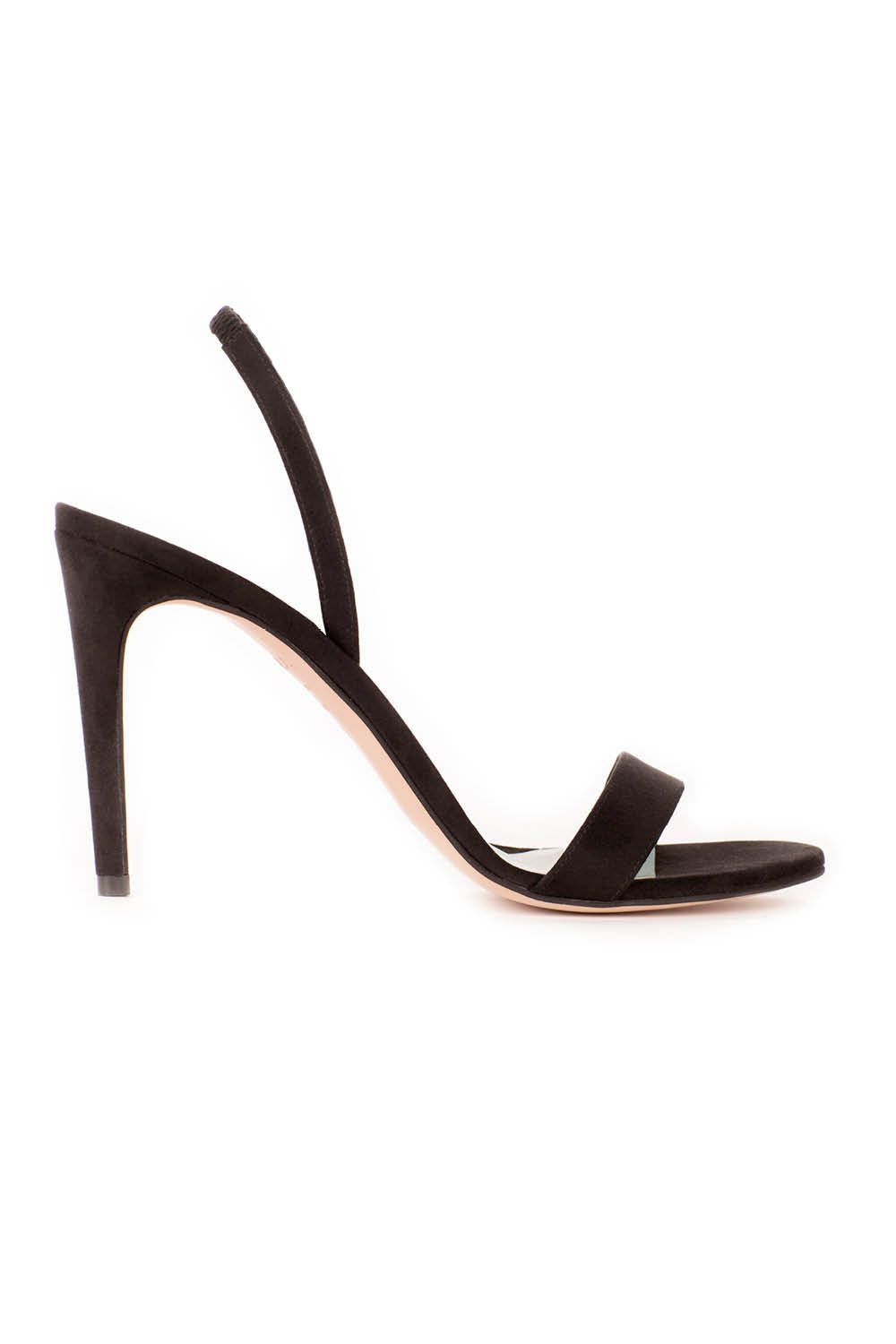 Alexandra in Black Suede Effect