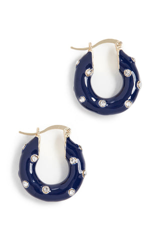 Alice Hoop Earrings in Blue