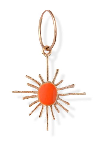 Amalia x Pili El Sol Earring in Bright Orange