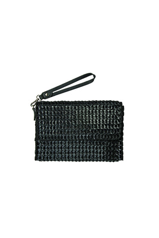 Amazona Enamel Clutch in Black