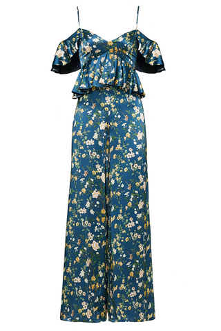 The Elizabeth Jumpsuit in Blue Floral