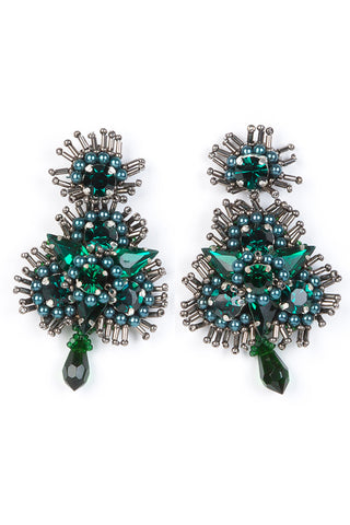 Anastasia Earrings in Emerald