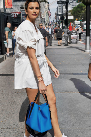 The Yulex Bucket Bag Blue