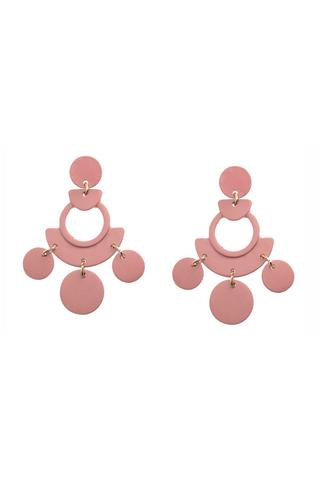 April Earring in Rose Nude