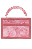 Arista Clutch in Pink Mother of Pearl & Shagreen Trim thumbnail