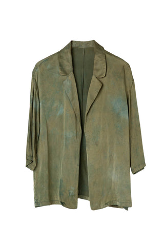 Athena Blazer in Moss Fields