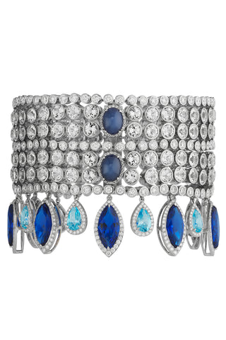 Azure Blue Cocktail Bracelet