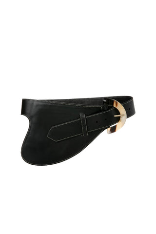 La Jefa Belt in Black Leather