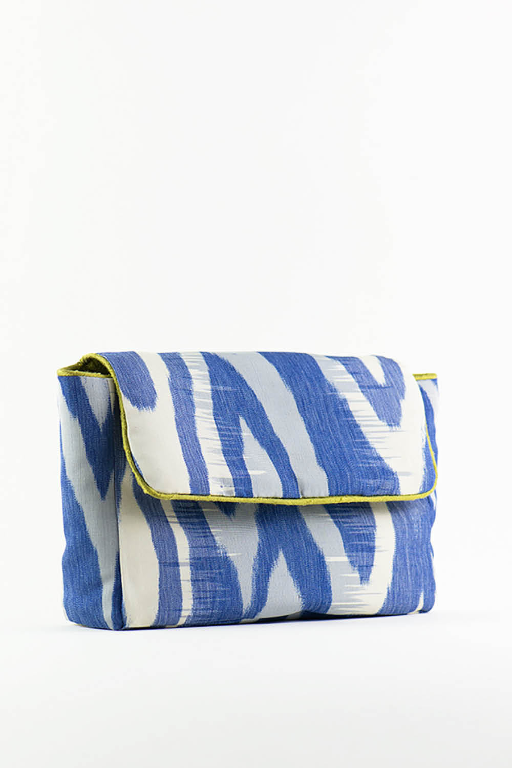 Upcycling Bag No. 4 in Blue Silk Ikat