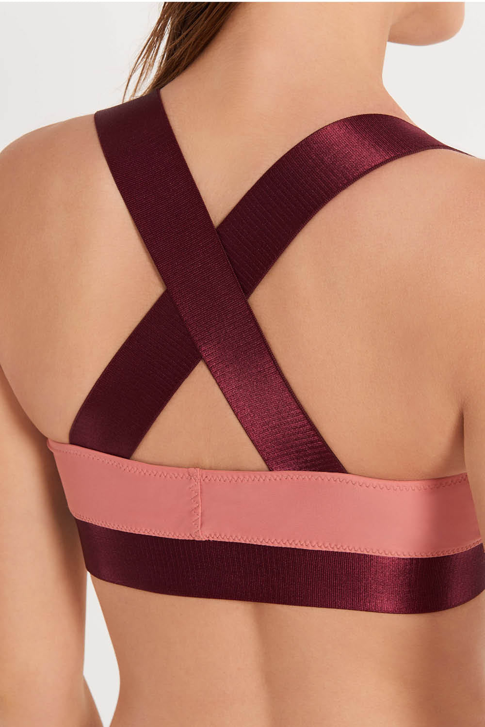Reversible Sporty Top Burgundy/Peach