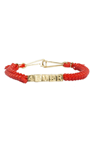 '4EVER' CAMP Biggie Bracelet in Red