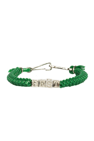 'BEST' CAMP Biggie Bracelet in Kelly Green