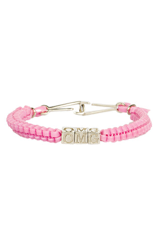 'OMG' CAMP Biggie Bracelet in Baby Pink