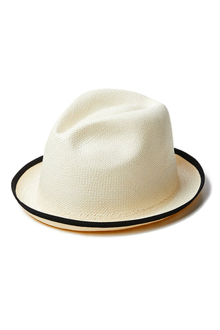Blake Hat with Trim in Natural