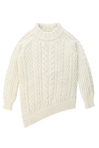 Bolinas Cable Knit Pullover in Natural