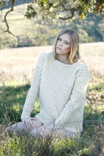 Caitlin Chevron Rib Pullover in Natural thumbnail