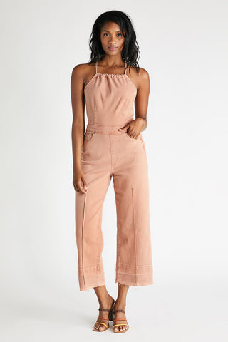 Cami Halter Jumpsuit in Coffee
