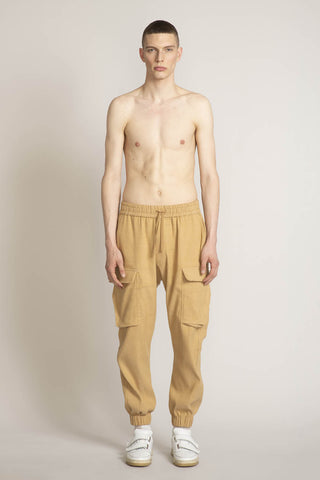 THE PLEDGE CARGO PANT IN CAMEL SOLID