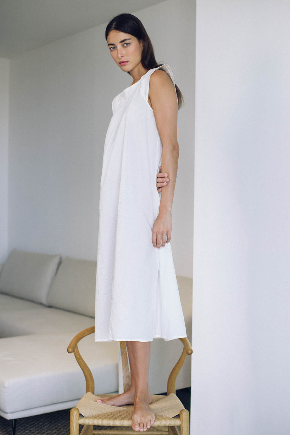 Chloe Nightgown in Milk