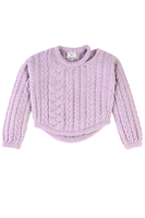 Charlie Croppy Cable Pullover in Lilac thumbnail