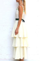 Carline Sleeveless Tiered Maxi Dress in Cream thumbnail