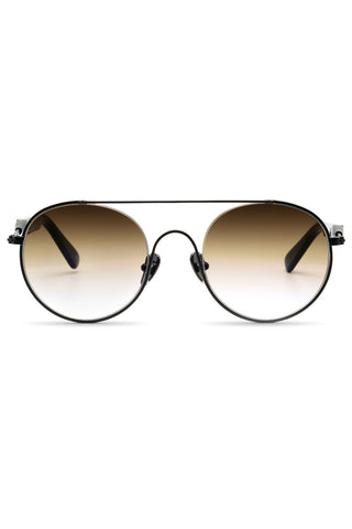 Cellophane Disco 01 Sunglasses in Matte Black Metal