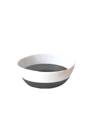 Two Color Cereal Bowl in White & Grey