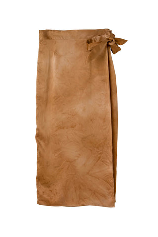 Circe Wrap Skirt in Desert Sand