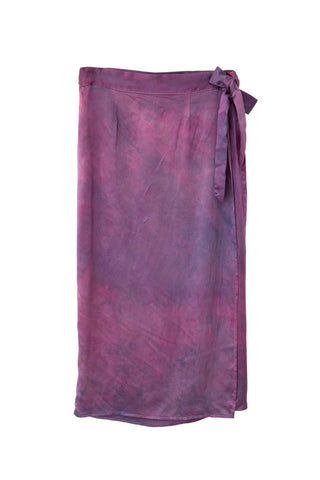 Circe Wrap Skirt in Magenta Haze