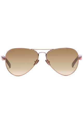 Concorde 18 Sunglasses in Polished Rose Gold Metal