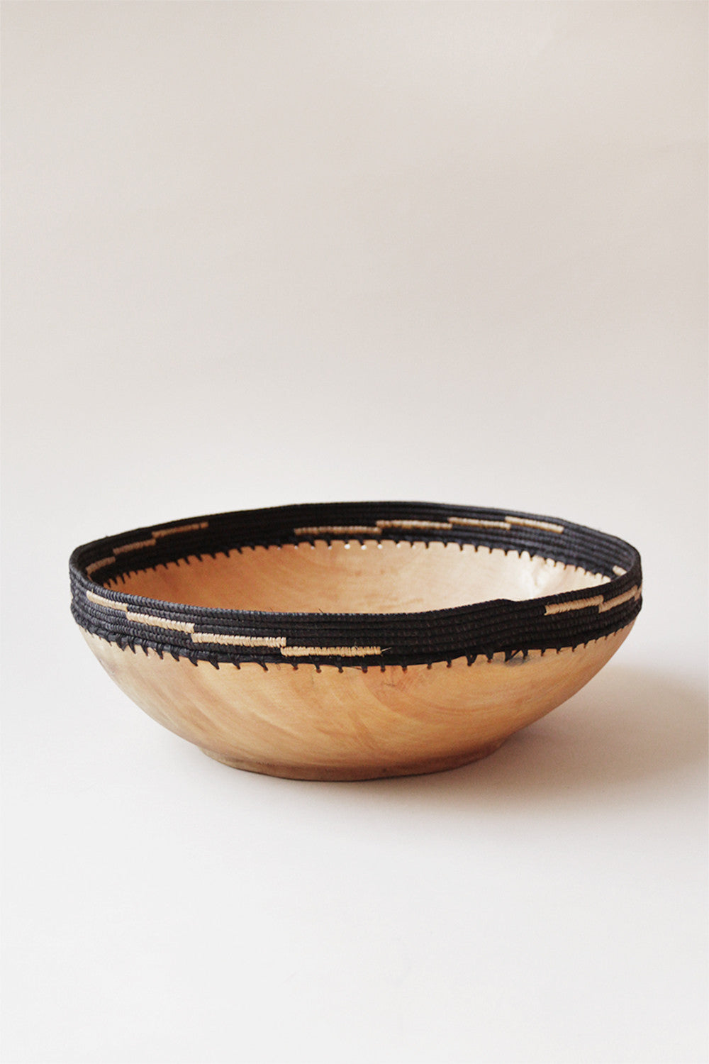 Large Copabu Wooden Bowl in Black
