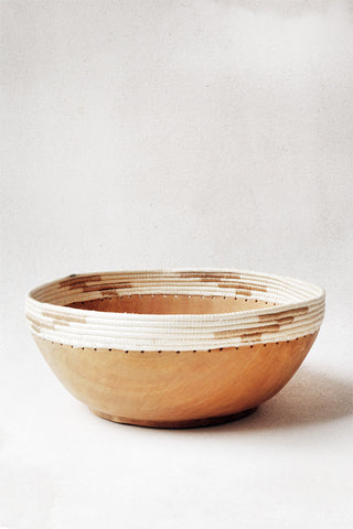 Large Copabu Wooden Bowl in White