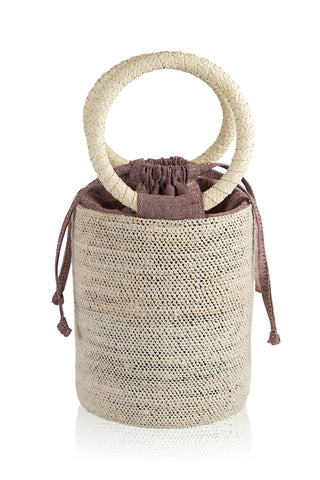 Natural-Rust Cylinder Bag