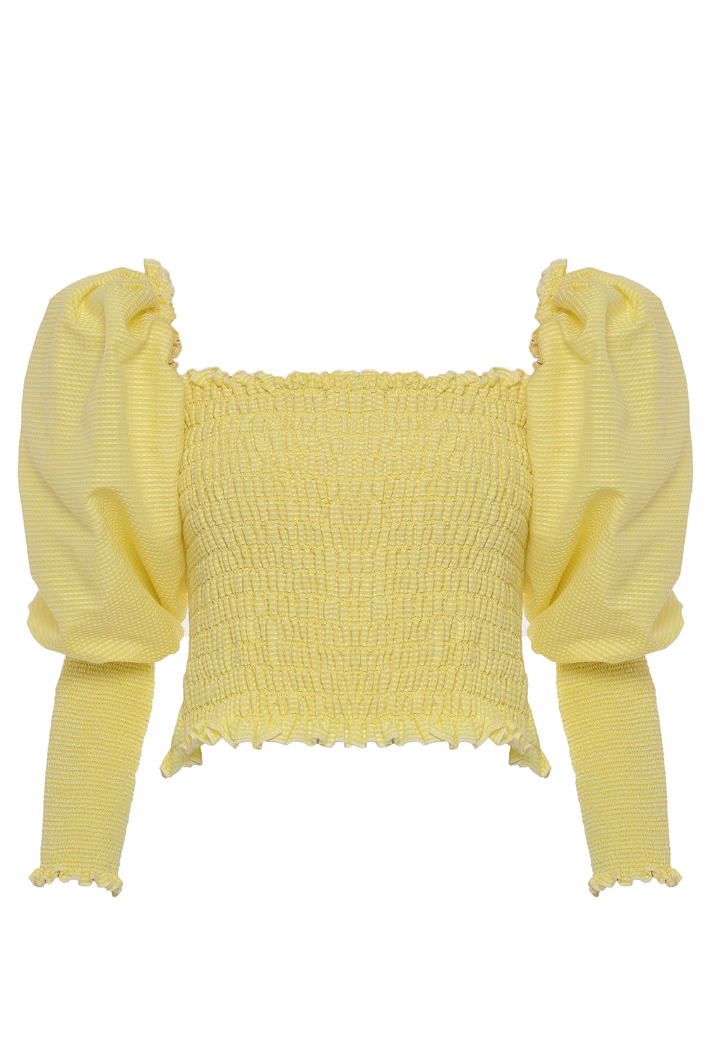 Charlotte Puff Sleeves Top in Yellow