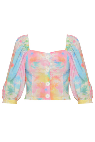 Biker Set Top in Tie Dye