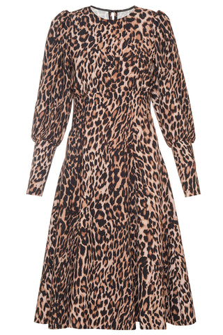 Wild Meadows Dress in Leopard