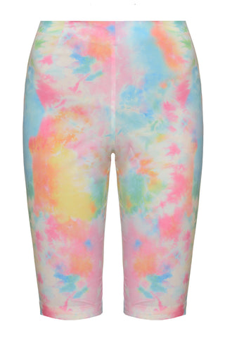 Biker Set Shorts in Tie Dye