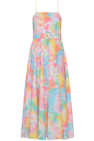 Tie Dye Flared Dress in Tie Dye