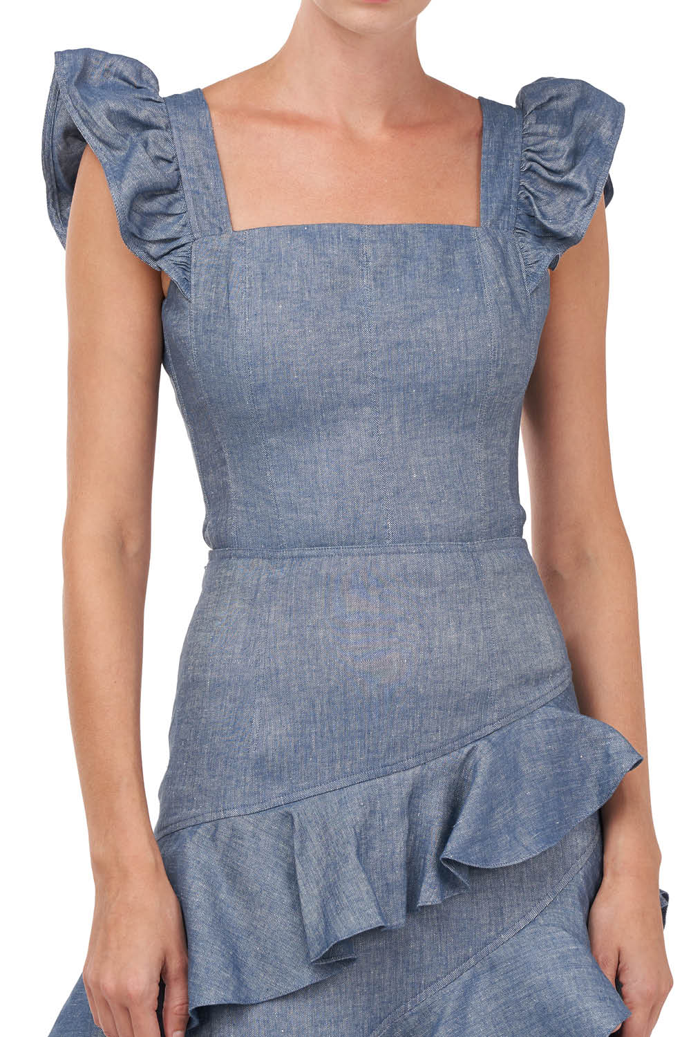 Dede Top in Chambray
