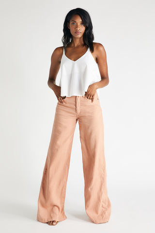 Devon Wide Leg Pant in Coffee