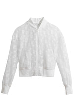 Eloisia Bomber Jacket in White thumbnail