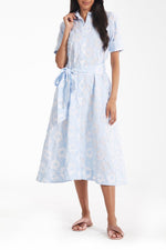 Amara Dress in Sky Blue & White thumbnail