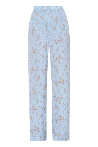 Just Another Pair Of Pants in Sky Blue with Flowers