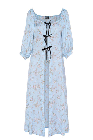 Where's the Nightcap Robe in sky blue with flowers