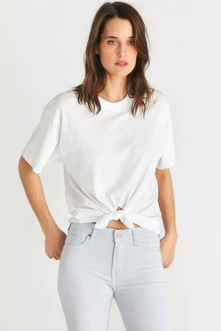 Demi Tie Front Tee in White