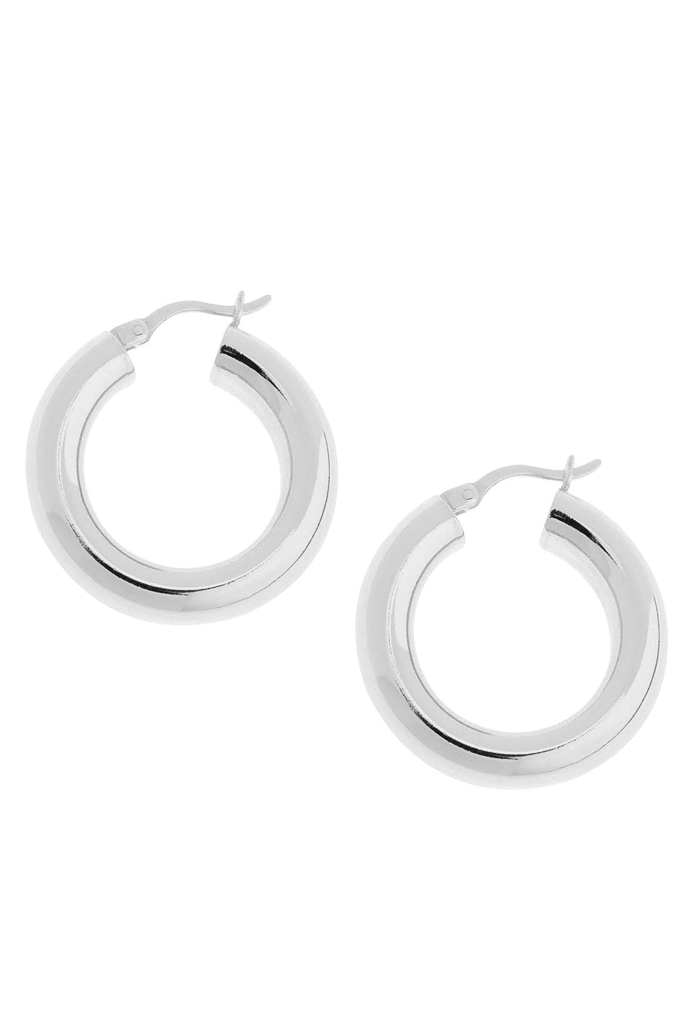 Dominique Hoop in White Gold